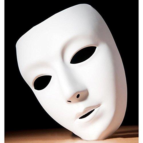 NaiCasy Vollgesichtsmaske Theater, Maske DIY Masquereade für Partei, Hochzeit, DIY Karneval, Cosplay, Anonymous venezianische Karneval Maskentänze und Malerei Papiermaske Whitie, Neuheit Schmuck
