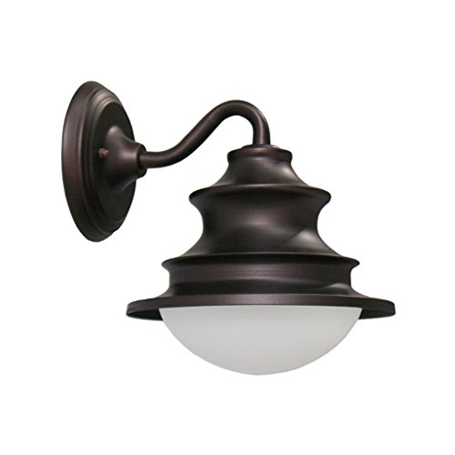 LIZHIQIANG Amerikanisches Land Retro- Europäische Antike Retro- Hängende Lampe, Korridorbalkon-Türlampe, Wasserdichte Industrielle Wandlampe Im Freien, Schwarzes