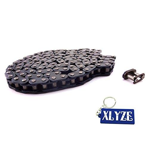 xlyze 116LINKS Kette T8F mit Spare Master Link für 43CC 47cc 49cc Mini ATV Dirt Quad Pocket Bike Minimoto