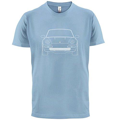 Porsche 993 Vorderansicht - Herren T-Shirt - 13 Farben Himmelblau