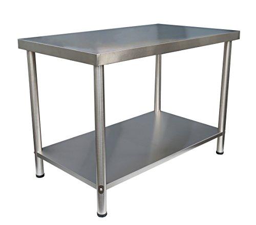 Edelstahl Arbeitstisch Gastro Tisch Edelstahltisch Küchentisch Anrichte 100x60x86cm ohne Aufkantung