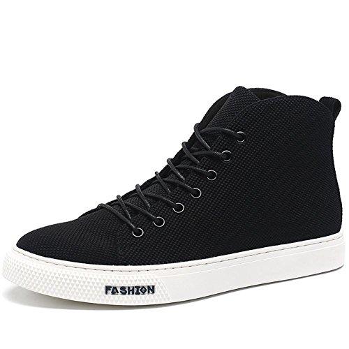 Toile de marée chaussures élevée en automne et en hiver plus chaud polaire chaussures chaussures de loisirs (noir)