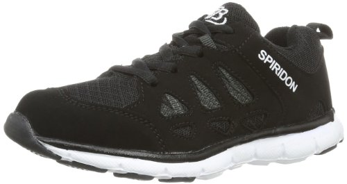 Bruetting SPIRIDON FIT, Unisex-Erwachsene Sneakers, Schwarz (SCHWARZ/WEISS), 41 EU (7 Erwachsene UK) -