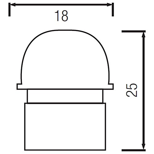 2er Pack – Mini Einbau IR Bewegungsmelder 360 Grad 230V – LED geeignet - 4