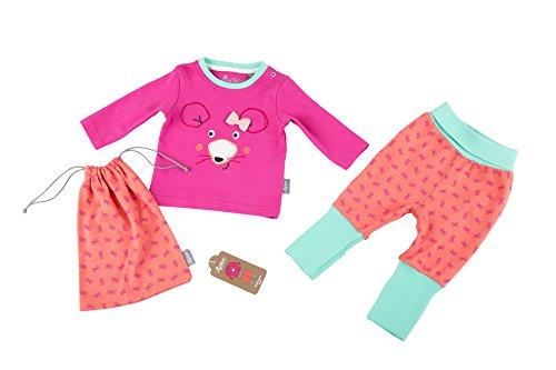Sigikid Baby-Mädchen Zweiteiliger Schlafanzug Pyjama, Rosa (Shocking Pink 682), 92