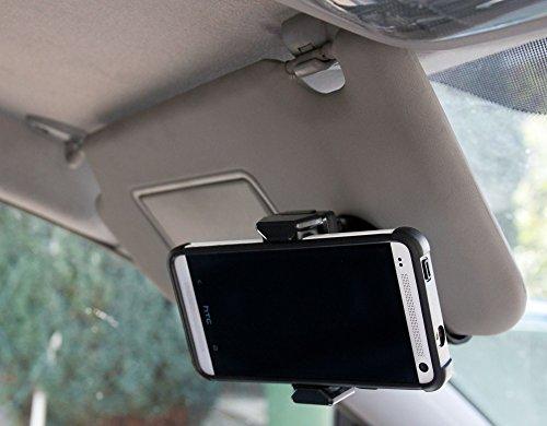 Pince/Support pare-soleil pour ARCHOS 45C Helium / 45D Platinum / 50 Saphir / 50F Helium Lite / 50F Helium - téléphone portable par DURAGADGET
