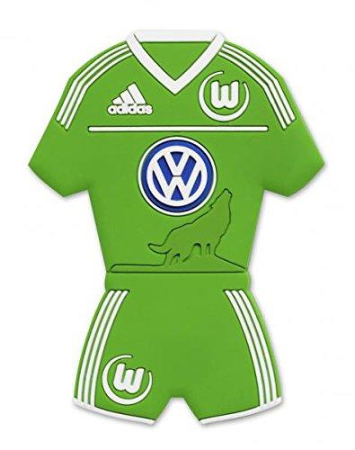 Preisvergleich Produktbild VfL Wolfsburg 3D Magnet Trikot [grün]