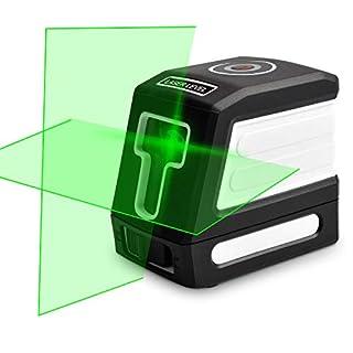 NICREW Kreuzlinienlaser Grün, Grünes Kreuz Laser Level Selbstnivellierender mit Laserstrahl und Neigungsfunktion DIY Linienlaser IP54 wasserdicht, Arbeitsabstand 30 m mit Magnethalter und Batterien