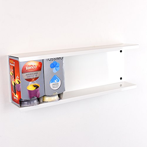 Tassimo 6caja/48T-Disc soporte dispensador de Pod de almacenamiento para pared soporte–blanco