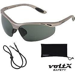 voltX 'CONSTRUCTOR' POLARIZADO Gafas de seguridad de lectura bifocales, Certificado CE EN166F / Gafas de ciclismo (dioptría +2.0) – Polarized Safety Reading Glasses