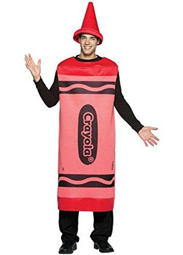 Crayola Red Kostüm Crayon - Struts Fancy Dress Erwachsenen Red Crayola Crayon Kostüm