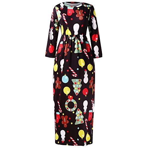(Bealeuy Kleider Damen Mini Cocktailkleid Abendkleid Sommerkleider Spitzenkleid Frauen Verein Partykleid, Frauen Casual Weihnachten Plus Size Full Print langes Kleid)