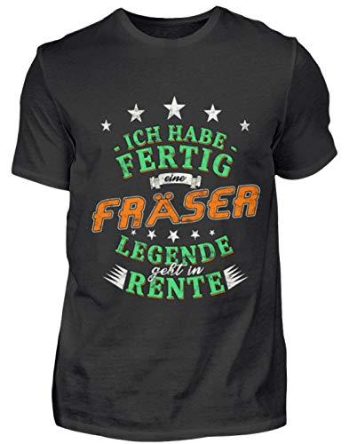 Rentner Pensionierung Fräser T-Shirt Geschenk Beruf Lustiger S - Herren Shirt -S-Schwarz -