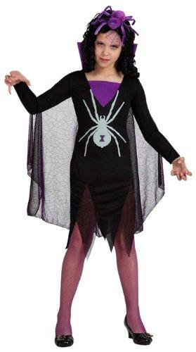 - Verkleidung, schwarze Witwe Mädchen, Größe: 128 ()