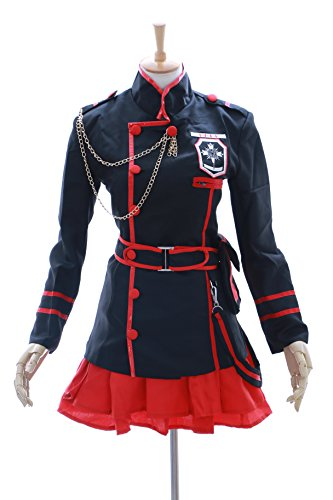 MN-15 Lenalee Lee D.Gray-Man Hollow schwarz Uniform Cosplay Set Kostüm (Gr. XL)