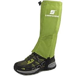 VORCOOL Un par de Polainas Impermeable Prueba de Viento Guardia de Protección para Las Piernas al Aire Libre Size M (verde)