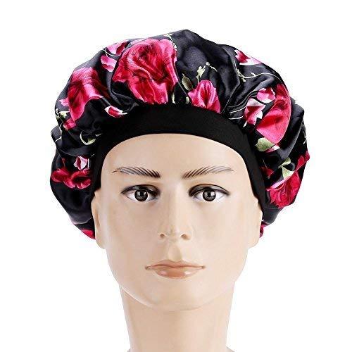 Haarausfall Cap, Womens Haarausfall Kopf Schal Krebs Hut Chemo Cap Turban Kopf wickeln Cover Satin schlafen Cap(Dark Blue) Satin Hair Wrap