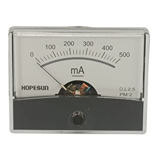 Velleman AIM60500 500mA DC Analogue Current Panel Meter, Multi-Colour, 60 mm x 47 mm