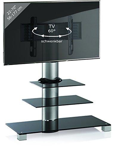 VCM Amalo Maxi - Soporte vertical de TV, con ruedas, color plata...