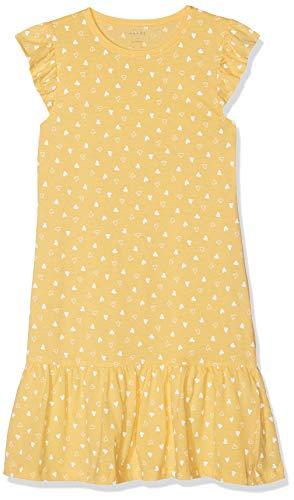 Mädchen T-shirt Kleid (Name IT NOS Mädchen Kleid NMFVIDA CAPSL DRESS NOOS, Mehrfarbig (Pale Marigold), 146 (Herstellergröße: 11Y))