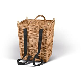 Adam Schmidt Basket with Carrying Straps Boiled Wicker 420 x 420 x 500 mm