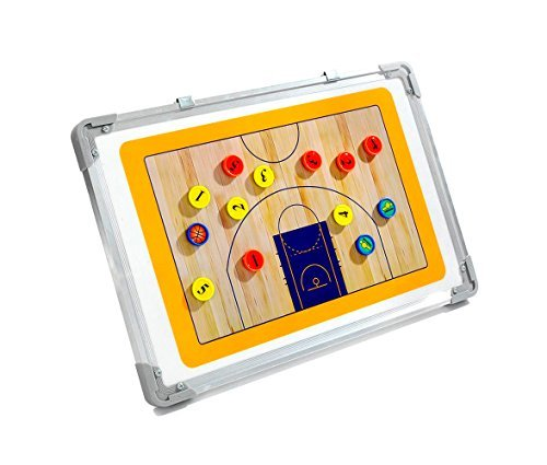 Wrzbest Basketball Coaching Board Coach Tactic Strategie Board Match Plan & Training Aid Coach Taktik Equipment (Basketball Coaching-board)