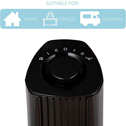 41d3r5jyChL. SS500  - Signature S40005 Portable Mini Tower Fan with 90 Degree Oscillation or Fixed Cold Air Blow Function, 2 Speed Settings…