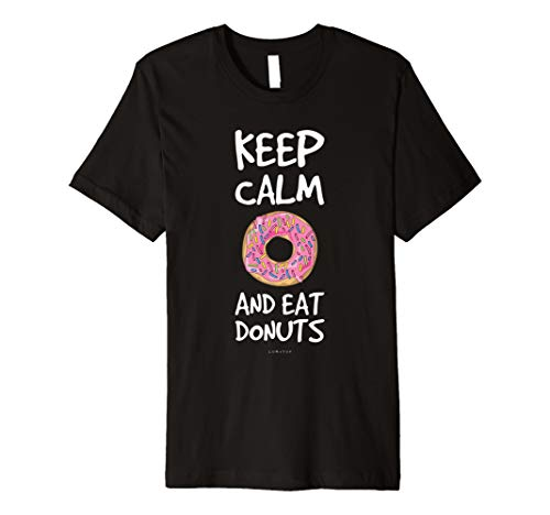 Funny Shirts For Donuts Lover: Keep Calm And Eat Donuts Tee
