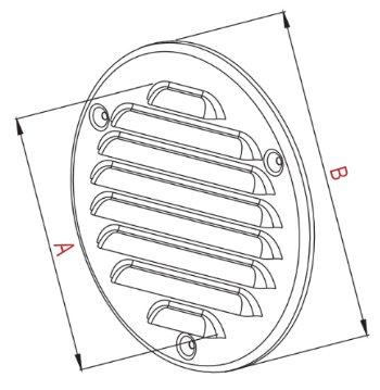 Lüftungsgitter Ø 125 mm Schlitz-Gitter Abluftgitter Lamellengitter Insektenschutz (Edelstahl) - 2