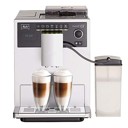 Melitta E970-101 Caffeo CI One-Touch Fully Automatic Coffee Maker with My Coffee Memory and Milk system - Silver