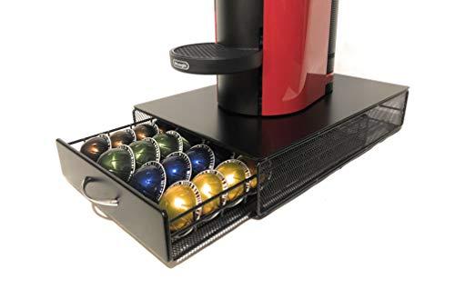 Nespresso Vertuo Kapselhalter Kapselspender Schublade zur Aufbewahrung von 40 Kapseln / Dolce Gusto (40St.) und Tassimo (30St.) kompatibel