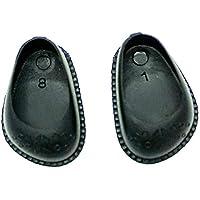 Folk Artesanía Par Zapatos colección de Calidad para muñecas tamaño Mediano. Fabricado en España (Blanco)