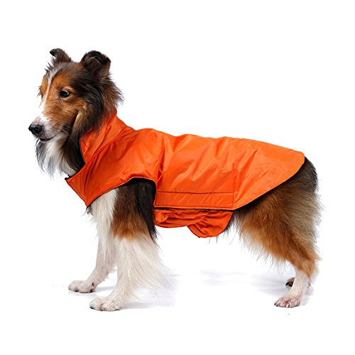 Kimfoxes Hundemantel Wasserdicht Winterjacke Herbst Weste Pet Dog Coat Jacket Costüm Wasserdicht Regenjacke Regenmantel Winter Warm für Kleine Mittlere große Hunde