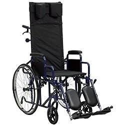 Silla de ruedas plegable con respaldo reclinable