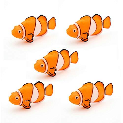 k Glühender Effekt Künstlicher Clownfisch, Aquarium Verzierung Fisch Tank Jellyfish Dekor (5 Stk) ()