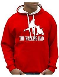 Coole-Fun-T-Shirts Herren Sweatshirt Walking Dad Bico