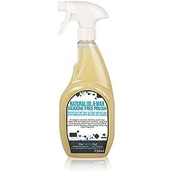 The Chemical Hut® Professional multi-surface Polish 750ml–Cera d' api naturale con penna in omaggio., 1 Bottle