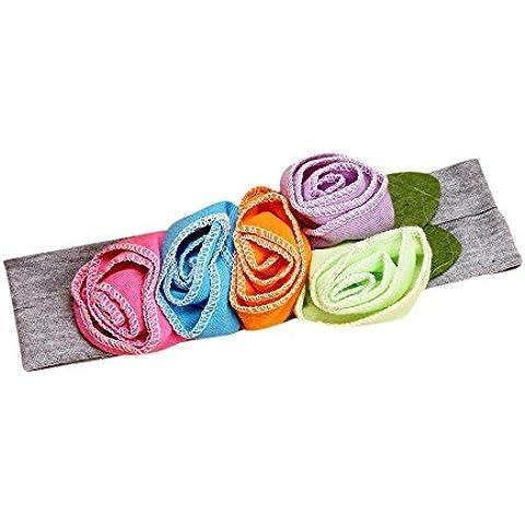 zolimx Diadema para bebé, hermoso arco flor pelo banda sombrero