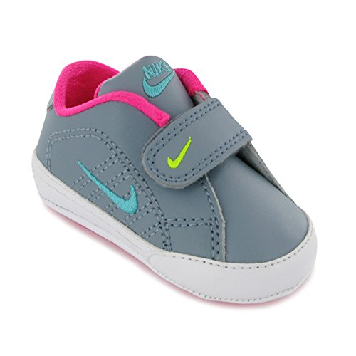 Nike per bambini 1st campo tradizione ragazza culla ginnastica Casual scarpe sportive scarpe Grigio (Grigio/blu/rosa)