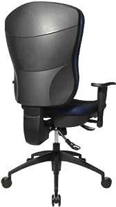 "TOPSTAR - siège de bureau pivotant ""Wellpoint 30 SY"", tissu: noir, Haut dossier, Accoudoirs optionnel (code 70700100)"
