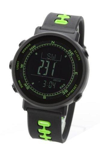 [Lad Weather] Sensor Schweizer Digitaler Höhenmesser Barometer Kompass Thermometer Wettervorhersage Laufen Bergsteigen A Füße Armbanduhr -
