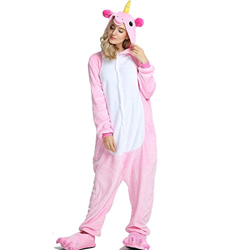 Crazy lin Einhorn Pyjamas Tier Jumpsuit Erwachsene Fasching Kostüm Unisex Sleepsuit Cosplay...