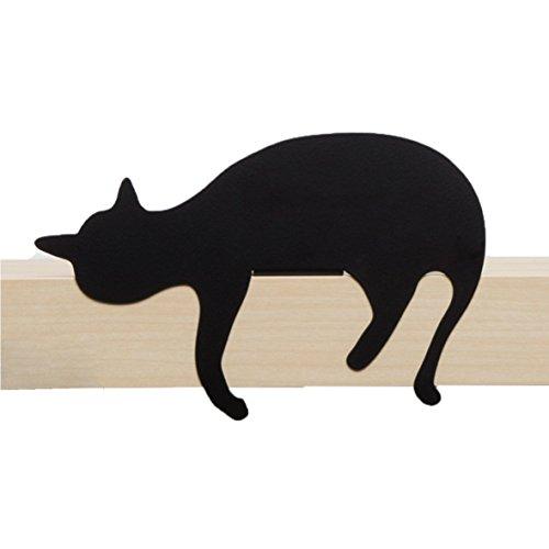 Artori Design Ad192ob – de chat Meow – Oscar – décoratifs en métal Noir Chat Silhouette