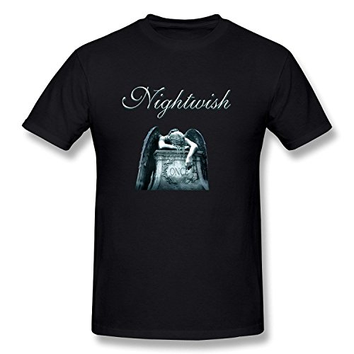 wtfcute Symphonic Metal Band Nightwish Once Cotton O-Neck T Shirt For Mens Black?XXX-Large?