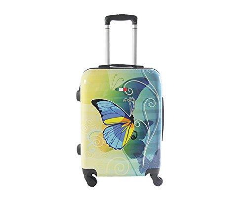 41d4 K87j3L - Equipaje de mano 55 cm JUSTGLAM Maleta cabina 4 ruedas trolley cascara dura adecuadas para vuelos de bajo cost art colorful