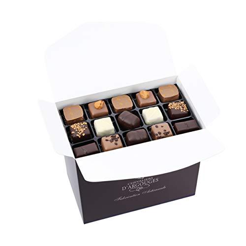 Assortiment de chocolats noir, lait, blanc - Ballotin de Noël 900g - Chevaliers d'Argouges - Pur beurre de cacao