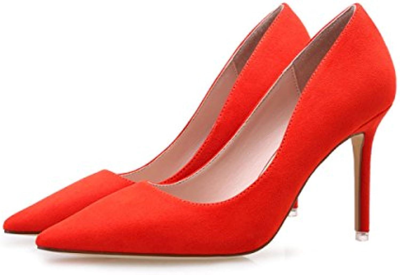 Très Bien Avec Les Talons Célibataires De Chaussures à Talons Les Hauts  s Femmes A Souligné Asakuchi Chaussures ConfortablesB0745D9KDBParent 5149e9