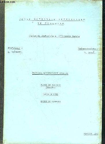 ELEMENTS D'ETHNOLOGIE AVIAIRE - RACES ET SOUCHES GALLINES - RACES D'OIES - RACES DE CANARDS - ECOLE NATIONALE VETERINAIRE DE TOULOUSE - CHAIRE DE ZOOTECHNIE ET D'ECONOMIE RURALE - FEVRIER 1972. par QUEINNEC & DARRE