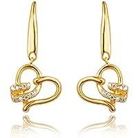 Diseñados para amor 18 ct pendientes para mujer, regalo de cumpleaños para mujeres dama de honor regalos de niña