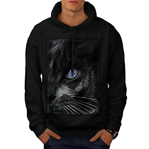 er Auge Katze Männer Kapuzenpullover Süß Beiläufiges mit Kapuze Sweatshirt ()